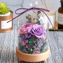 大奖娱乐_八音盒玻璃永生花系列——紫色</a>