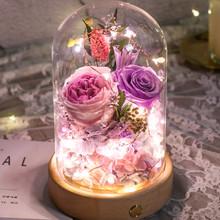 大奖娱乐djpt8_彩灯玻璃罩永生花—紫色款</a>